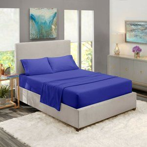 Royal Blue Egyptian Comfort Bed Sheets 4 Piece!